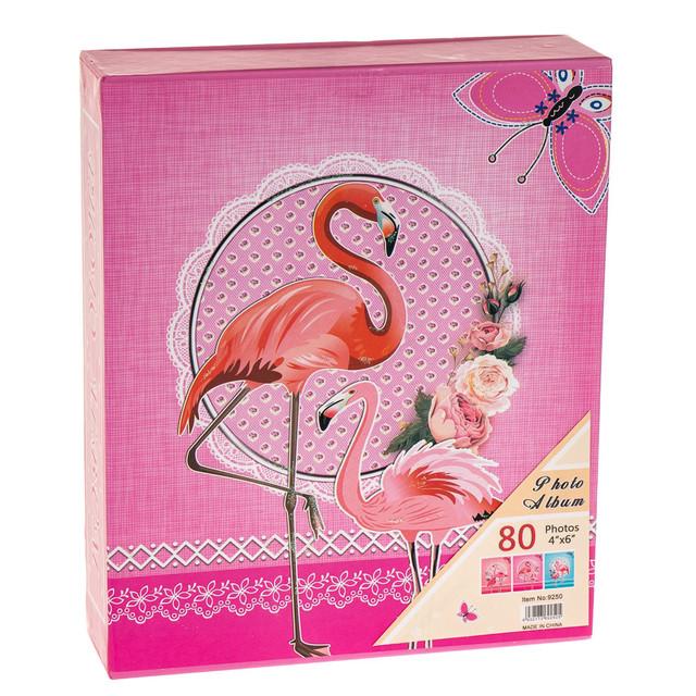 """Фотоальбом """"Розовый фламинго"""" (80 фото 10х15)"""