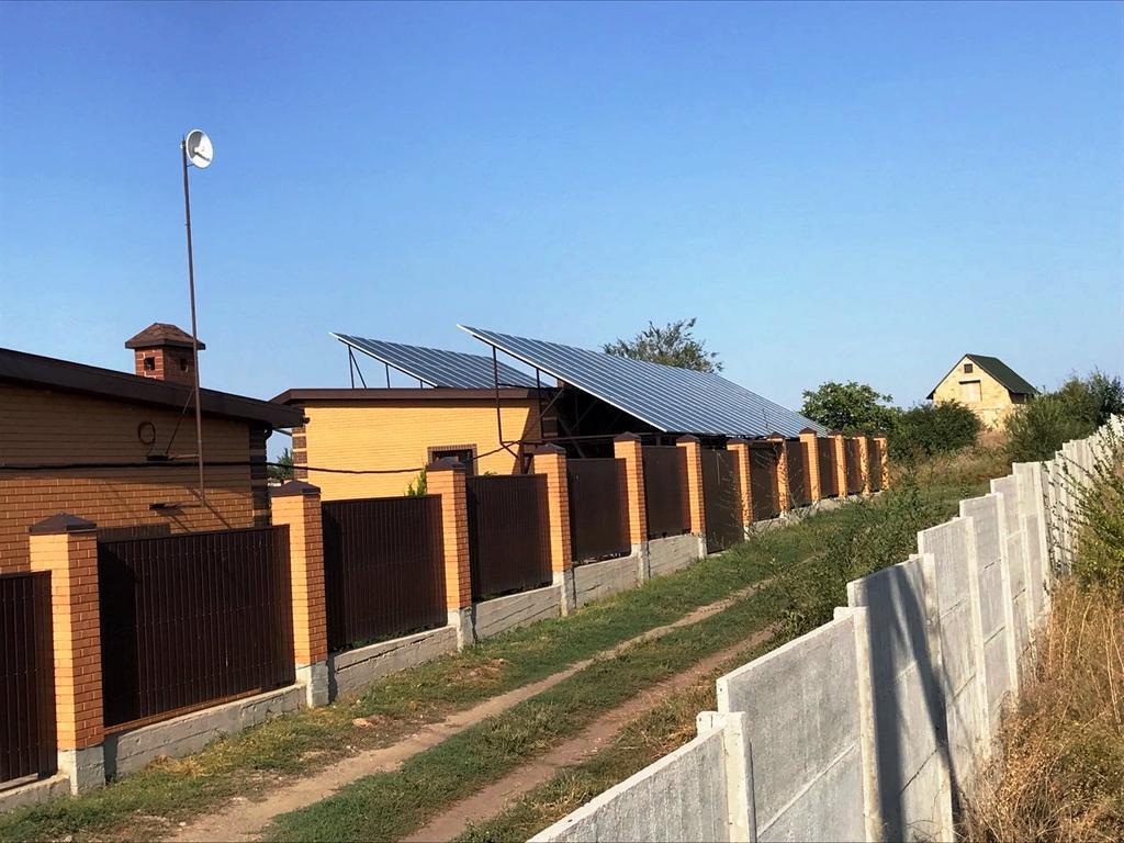 """Вільне сонячна електростанція під """"зелений"""" тариф потужністю 41 кВт Leapton + Huawei Дніпропетровська область"""
