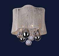 Люстра с абажуром LEVISTELLA 7777029-6 кор., бел., серебро, бордо
