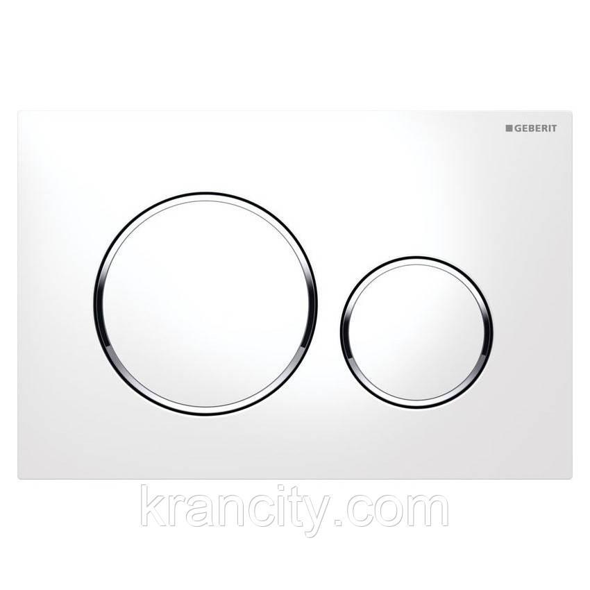Cмывная клавиша GEBERIT SIGMA 20, двойной смыв, белый/хром глянцевый/белый,Швейцария