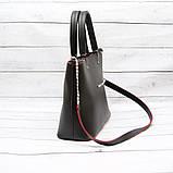 Женская сумка Mісhаеl Коrs, в стиле Майкл Корс MK, черная с красным, фото 2