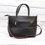 Женская сумка Mісhаеl Коrs, в стиле Майкл Корс MK, черная с красным, фото 3