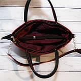 Женская сумка Mісhаеl Коrs, в стиле Майкл Корс MK, черная с красным, фото 4