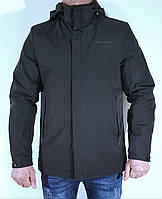 """Мужская стильная демисезонная куртка  прямая черная """"Pafao"""" 5087"""