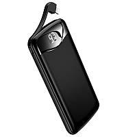 Портативное зарядное устройство Usams US-CD90 Digital Display Aluminum Alloy With Cable 10000mAh