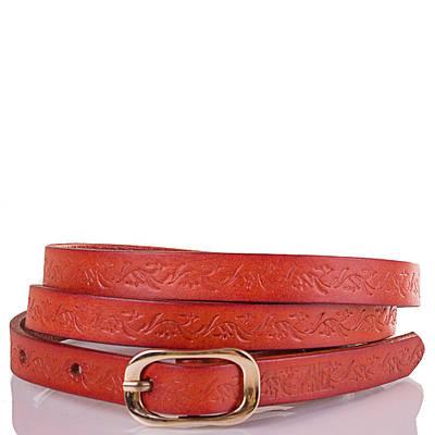 Женский кожаный ремень ETERNO (ЭТЕРНО) ETS5102-12 оранжевый