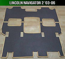 ЕВА коврики на Lincoln Navigator 2 '03-06. Ковры EVA Линкольн Навигатор 2