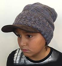 Детская шапка для мальчика TRESTELLE Италия T18 215J голубой
