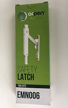 Детский замок безопасности для окон металлопластиковых автоматический с кнопкой Safety Latch Akpen
