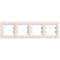 Рамка четырехкратная крем ASFORA Schneider electric EPH5800423