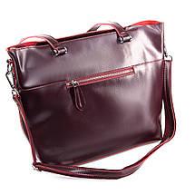 Сумка Женская Классическая кожа ALEX RAI 09-3 9322 wine-red, фото 2