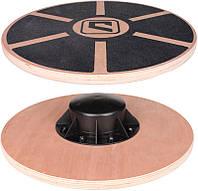 Баланс-борд деревянный LiveUp BALANCE BOARD, LS3150