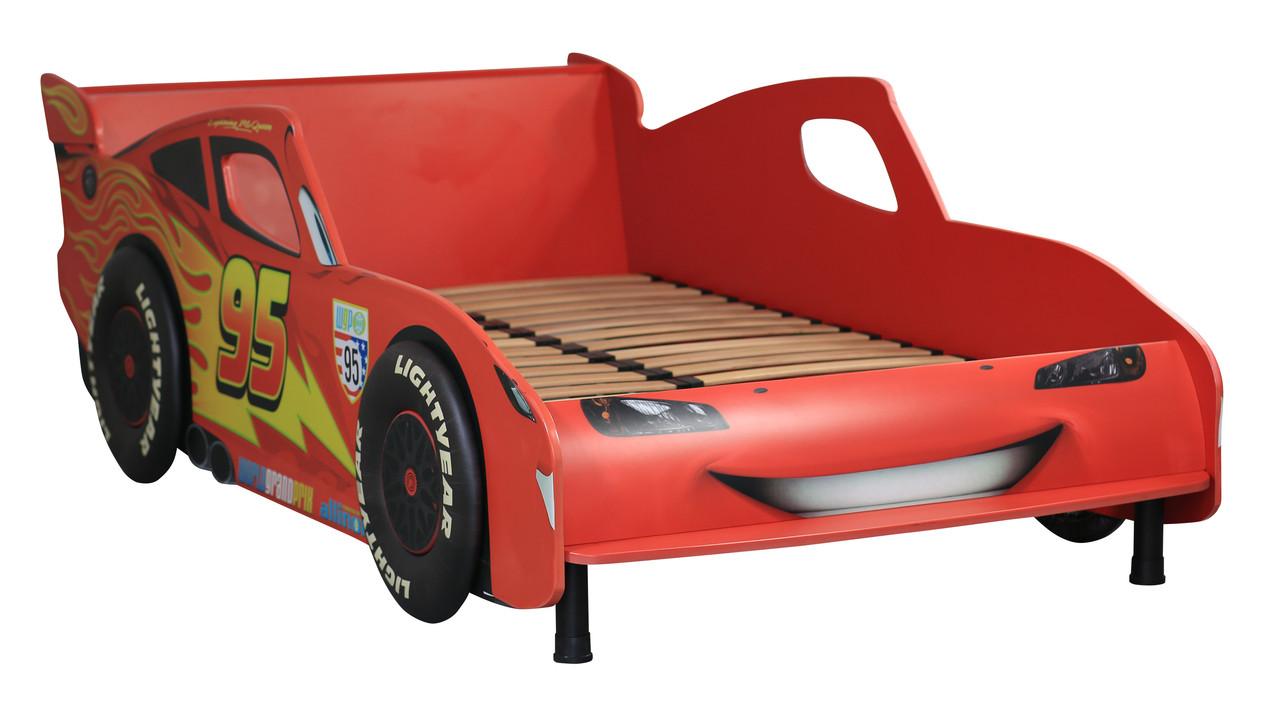 Кровать Тачки  Дизайн Дисней Тачки Молния Маккуин гонки