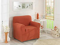 Чехол для кресла без оборки Терракотовый, фото 1