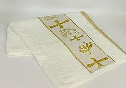 """Полотенца для крещения детей """"КРЫЖМА"""" золото"""