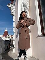 Женское весеннее пальто кашемир,цвет бежевый и черный,размер 42-46 и 48-52 на синтепоне