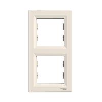 Рамка двухкратная вертикальная крем ASFORA Schneider electric EPH5810223