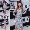 Красивое элегантное трикотажное строгое платье-миди LOVE с разрезом сзади р.42 и 50. Арт-2837/23