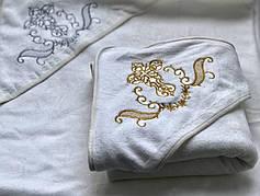 Полотенца с капюшоном для крещения детей микрофибра
