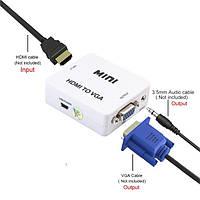 Конвертер HDMI to VGA \ vga 001 /Переходник-конвертер, фото 1
