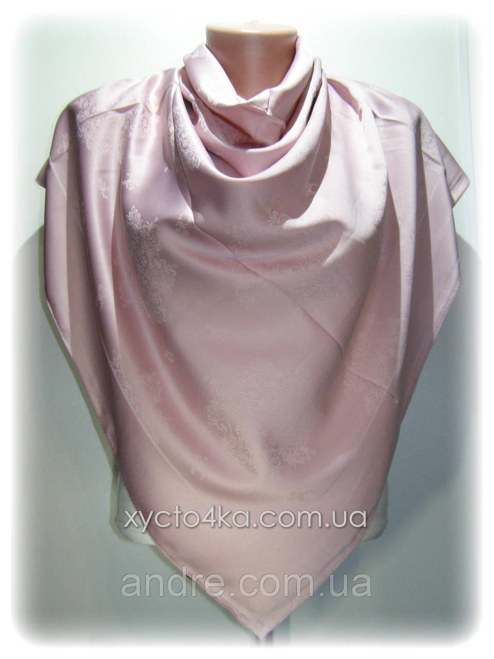 Двусторонний шелковый платок Хамелеон, розовый