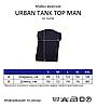 Мужская майка JHK URBAN TANK TOP MAN цвет светло-серый меланж (AS), фото 2