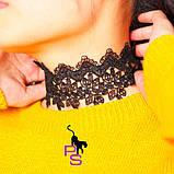 """Шикарный ажурный кружевной чокер ожерелье медальон ошейник ошейничек пояс лента шнурок Бе9 """"Роза""""8290, фото 2"""