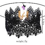"""Шикарный ажурный кружевной чокер ожерелье медальон ошейник ошейничек пояс лента шнурок Бе9 """"Роза""""8290, фото 6"""