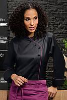 Куртка поварская женскаяTEXSTYLE с косой застежкой