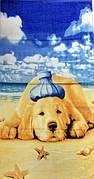 Полотенца пляжное собака на писке