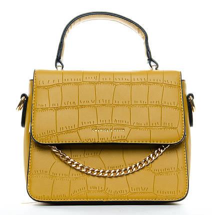 Сумка Женская Клатч иск-кожа 1-01 16865 yellow, фото 2