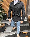 😜 Пальто - Мужское пальто темно-серого цвета, фото 2