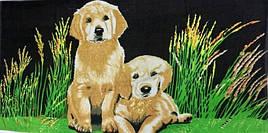 Полотенца пляжное два щенка