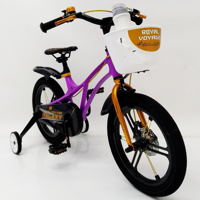 Детский двухколесный велосипед  (от 5 лет) на 16 дюймов  GALAXY Violet Магниевая рама (Magnesium) - фото 1