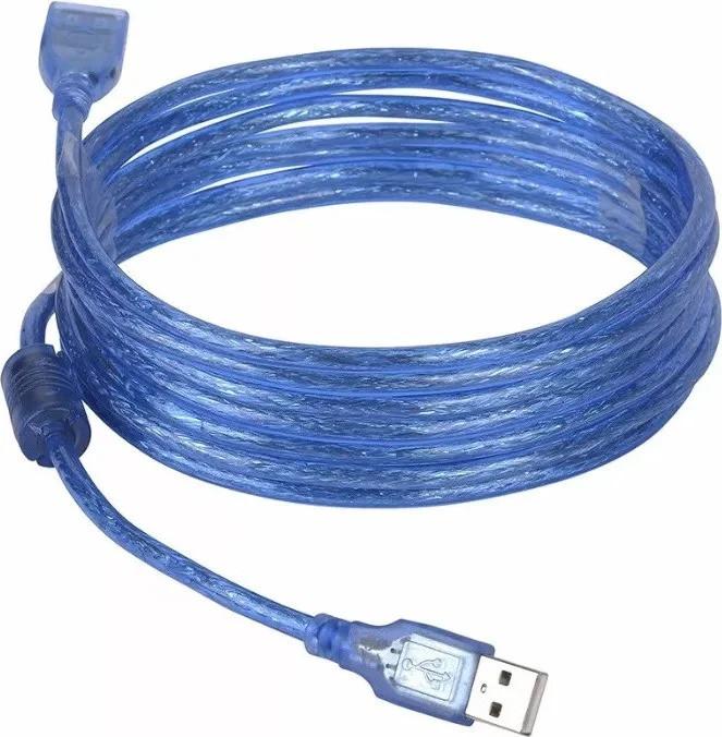 Кабель удлинитель USB A - USB F UKC 5 метров Blue