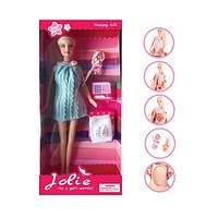 Кукла K369-6 (24шт) 30см, беременная, пупс, аксессуары, в кор-ке, 15-32-5,5см