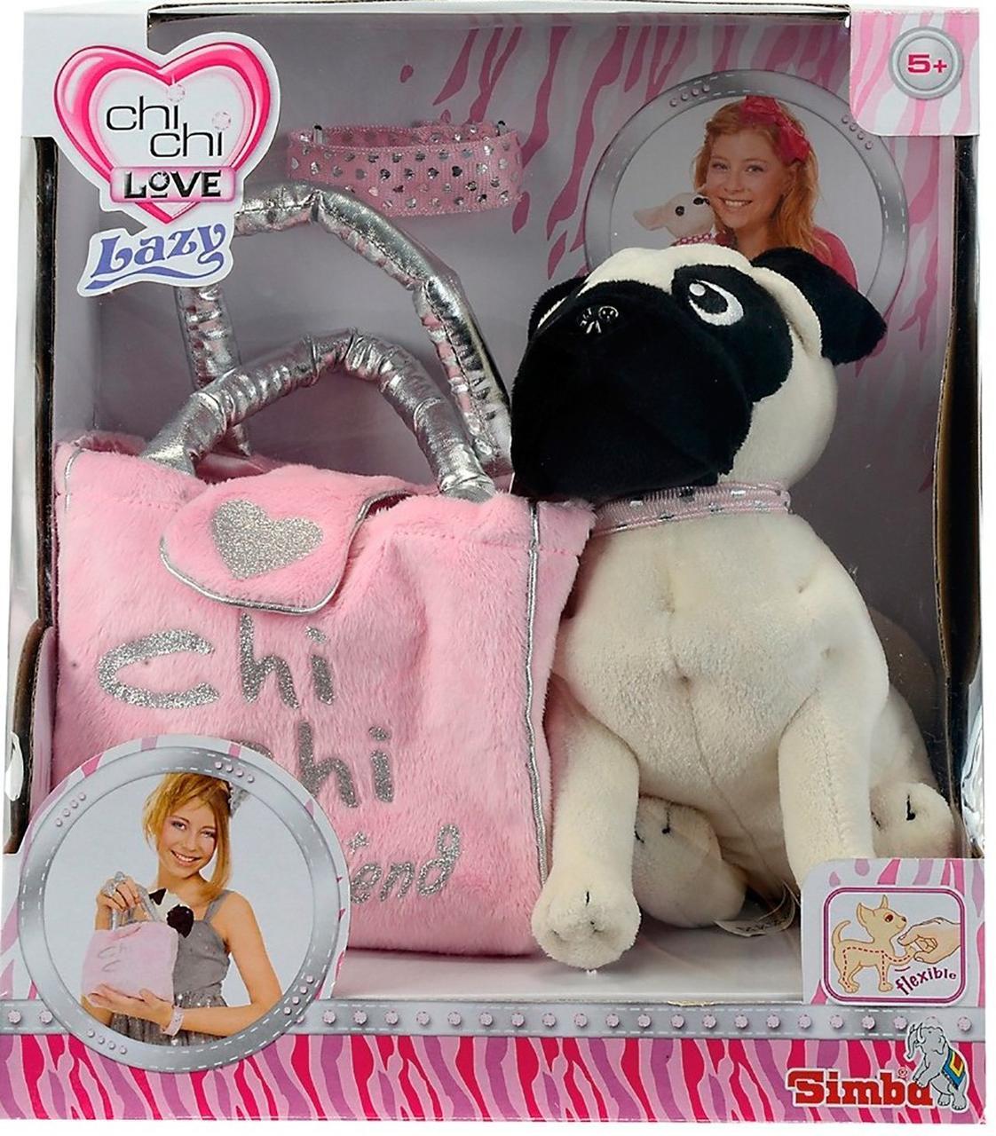 Собачка Chi Chi Love Мопс з сумочкою і браслетом ОРИГІНАЛ Simba 5895932 Чічі лав