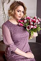 Женское платье из гипюра нарядное демисезонное 52-60 р 6 цветов