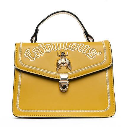 Сумка Женская Клатч иск-кожа 1-01 6983 yellow, фото 2