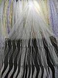 Фатиновая тюль с вышивкой  кордовой ниттю по всему полю на метраж и опт Белая,молочная,крем золото., фото 3