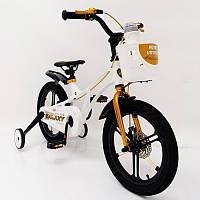 Детский двухколесный велосипед  (от 5 лет) на 16 дюймов  GALAXY Violet Магниевая рама (Magnesium)