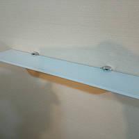 Полку 4 мм скляна пряма яскраво-біла 50х10 см