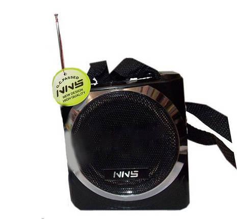 Портативная акустика Радио USB NS-063U с Usb,Sd,аккумулятор и диктофон USB порт SD Card Slot AUX-IN разъем    , фото 2