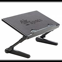 Регулируемая Подставка для ноутбука кулер столик с охлаждением AIR SPACE ЧЁРНЫЙ