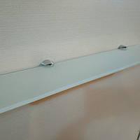 Полка 4 мм стеклянная прямая светло-ванильная 50х10 см, фото 1