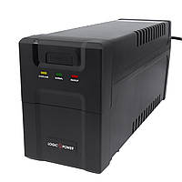 ИБП LogicPower 600VA-P, Lin.int., AVR, 2 x евро, пластик