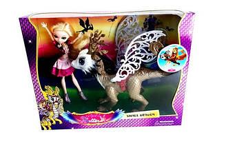 "Лялька (кукла) ""EAH"" Ever After High ""DG"" 68008 (18шт/2) p драконом, шарнірна, в кор. 40*10*32 см"