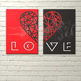 """Постери на полотні """"Диптих. LOVE"""""""