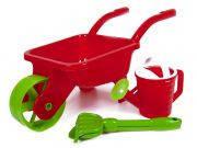 Тачка детская садовая с лейкой, лопатой и граблями 01-124