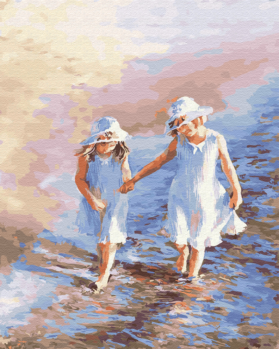 Картина по номерам 40*50см. Детки у моря GX25242 Brushme